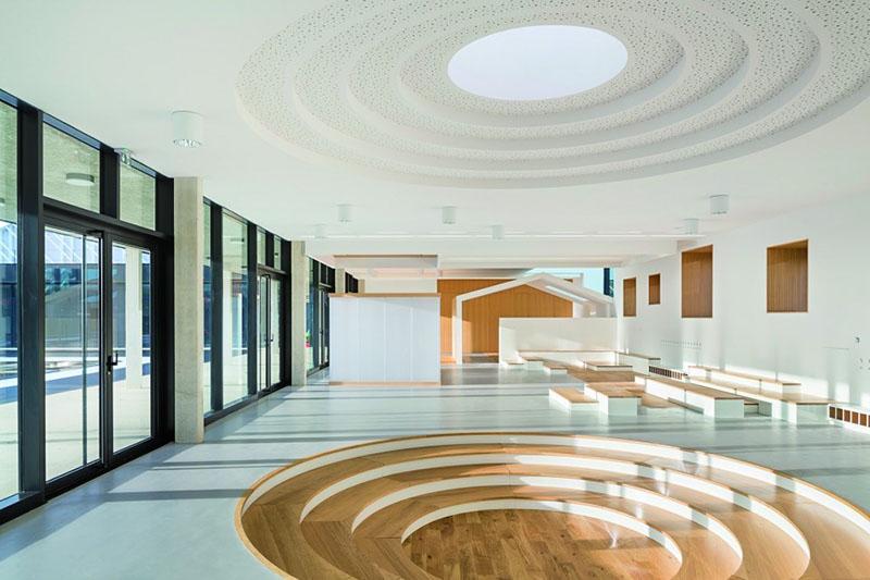 Interior view of schools.