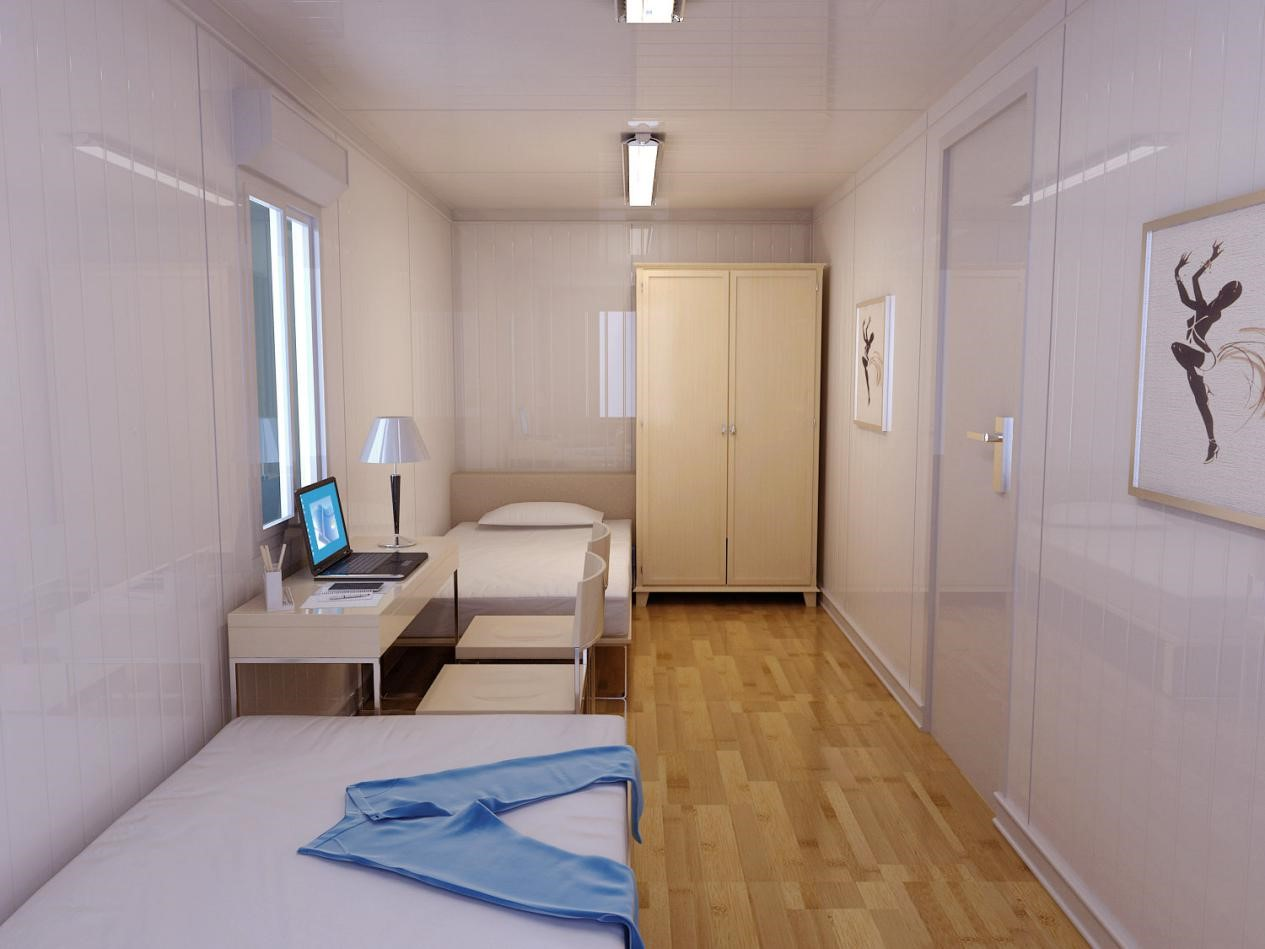 metal container home for office room