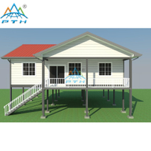 Luxury Prefabricated Light Steel Structure Villa With 4 Bedroom