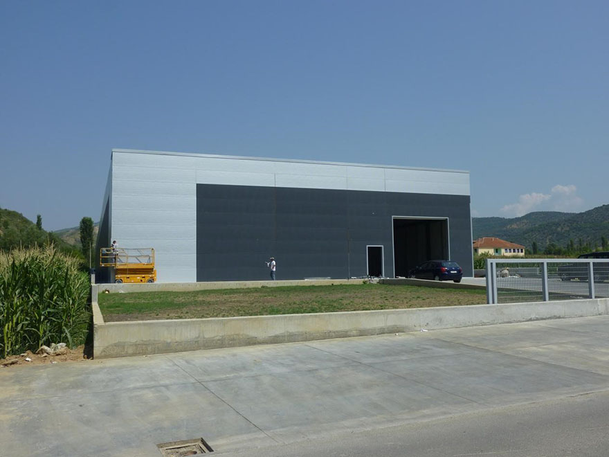 The steel structure project in Albania