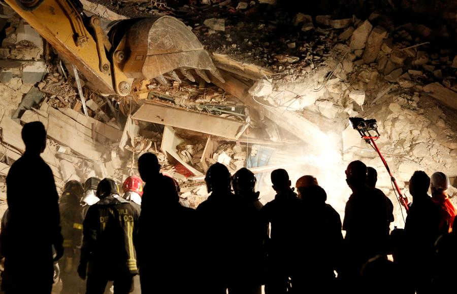 Italy Rescuers Toil Through Night as Death Hits 159