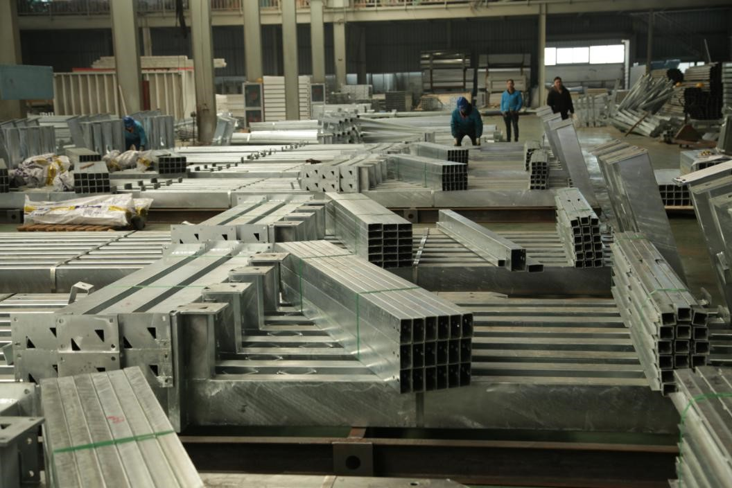 Components of steel structure coffee factory