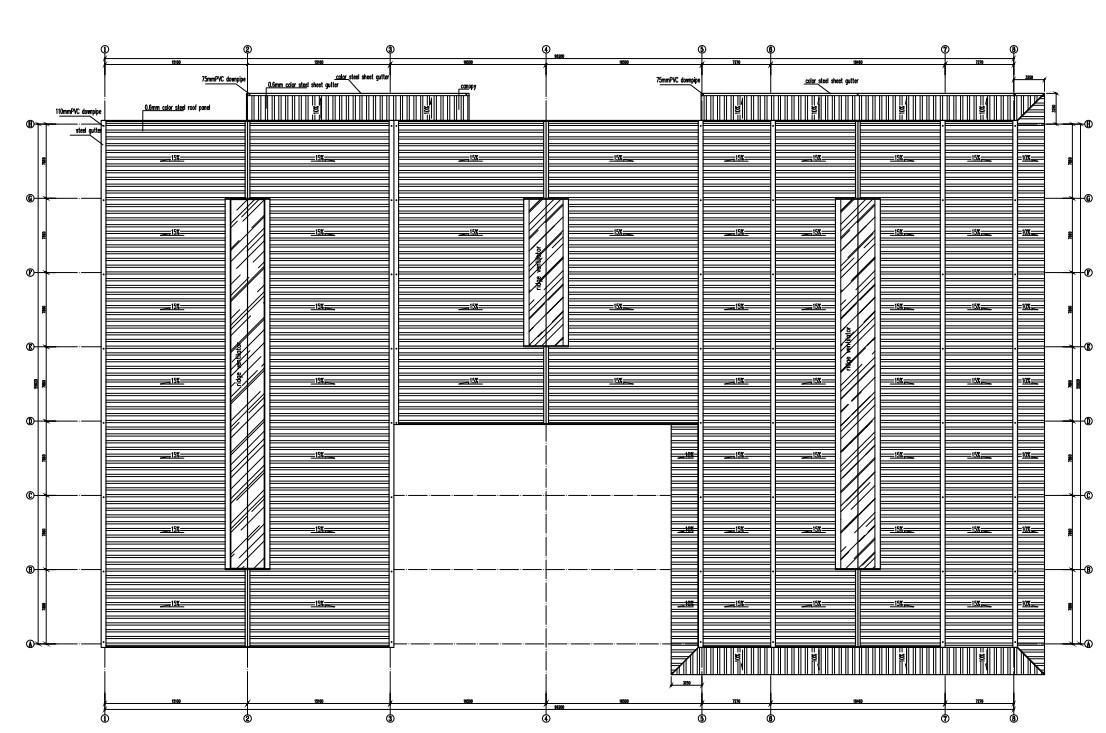 steel structure coffee building structure chart