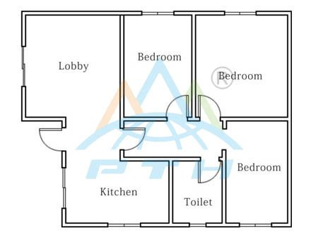 Light Steel Villa Layout 80 Square Meter 3 Bedrooms And 1 Washroom From China Manufacturer Pth